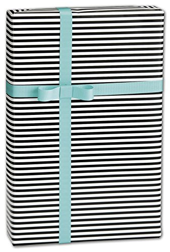 EGP Gift Wrap 30″ x 417′ (Black/White Stripe)