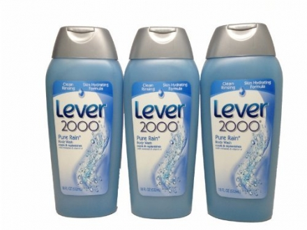 Lever 2000 Pure Rain Body Wash 18 Oz (3 Pack)