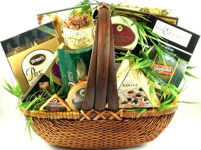 A Higher Class Premium Gourmet Food Gift Basket | Meats, Cheese, Nuts, Cookies & More