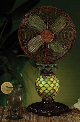 Deco Breeze Mosaic Pineapple Table Top Fan/Lamp