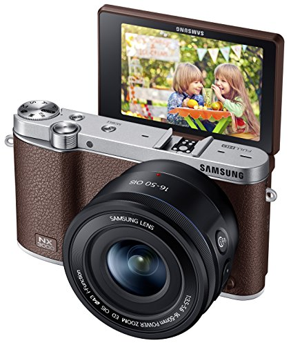 Samsung NX3000 Wireless Smart 20.3MP Mirrorless Digital Camera with 16-50mm OIS Power Zoom Lens and