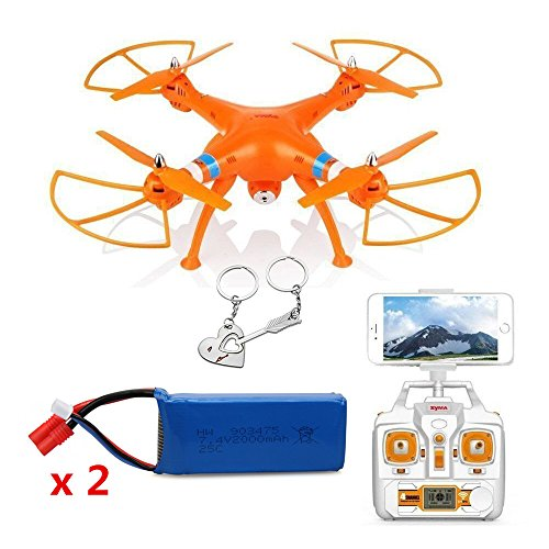 Blueskysea Free Gift Keychain + Syma X8W WiFi Real Time Video 2.4G 4ch 6 Axis Venture 4CH Gyro with