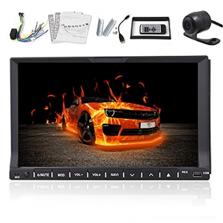 High Def Double 2 Din 7 Inch Car Stereo DVD CD PC Video Player With Bluetooth Car Auto Radio TV Ipod