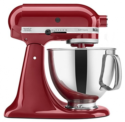 KitchenAid KSM150PSER Mixer Artisan Series with Pouring Shield, 325-watt, Empire Red