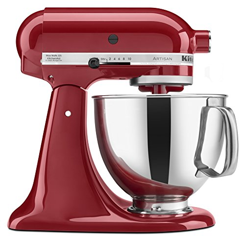 KitchenAid KSM150PSER Mixer Artisan Series with Pouring Shield, 325-watt, Empire Red
