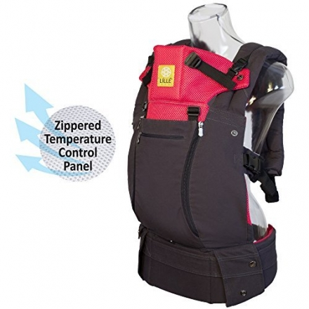 LILLEbaby Complete All Seasons 6-in-1 Baby Carrier – Charcoal/Berry