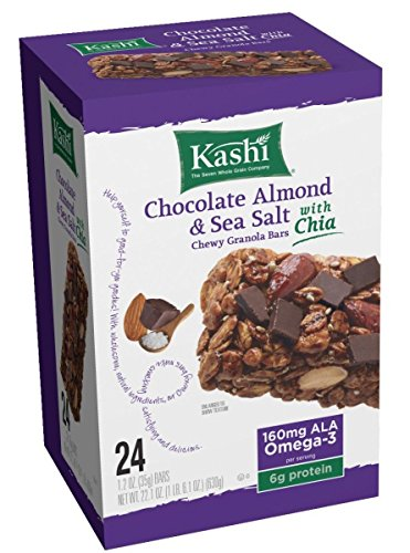 Kashi Granola Bars, Chewy, Chocolate Almond & Sea Salt with Chia 24ct.