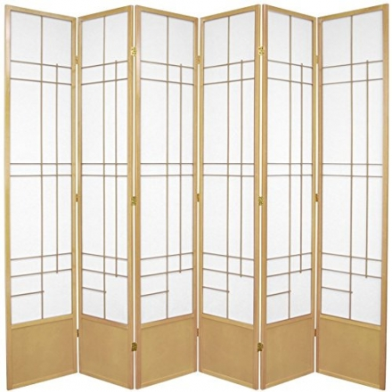 Oriental Furniture Office Partition Furniture, 84-Inch Eudes Room Divider Japanese Shoji Oriental Sc