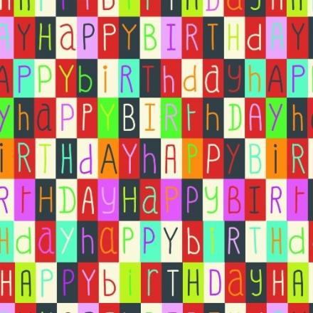 Jillson Roberts 416-Feet X 30-Inch 1/2 Ream Recycled Gift Wrap, Happy Birthday to You (B11050)