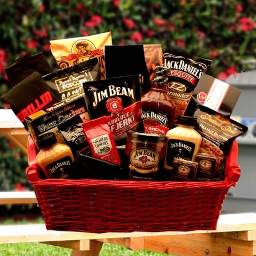 Jack Daniels and Jim Beam Gourmet Gift Basket -Great Gift Idea for Men