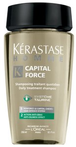 Kerastase Homme Capital Force Daily Treatment Shampoo, Anti-Oiliness Effect, 34 Ounce