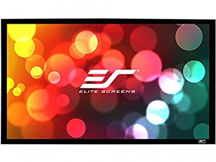Elite Screens Sable Frame Series, 200-inch Diagonal 16:9, Fixed Frame Projection Screen, Model: ER20