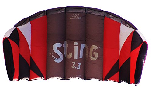 Flexifoil 3.3m2/3.1m Wide Sting 4-line Power Kite with 90 Day Money Back Guarantee! By World Record