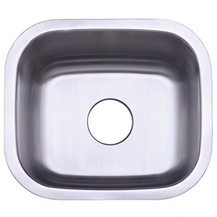 Kingston Brass Gourmetier GKUS16168 Undermount Single Bowl Bar Sink 16-Inch-Length  by 16-Inch-Width