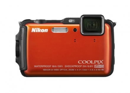 Nikon COOLPIX AW120 16 MP Wi-Fi and Waterproof Digital Camera with GPS and Full HD 1080p Video (Oran