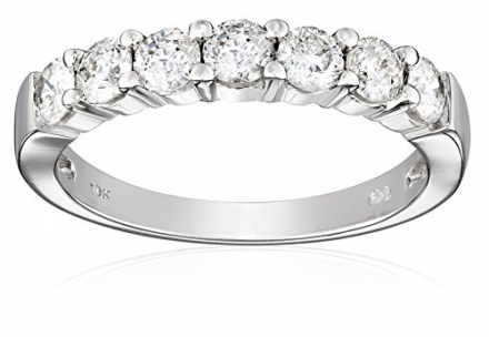 10k White Gold 7-Stone Diamond Ring (1 cttw, H-I Color, I2-I3 Clarity), Size 6
