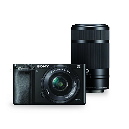 Sony Alpha a6000 Mirrorless Digital Camera with 55-210mm and 16-50mm Power Zoom Lenses
