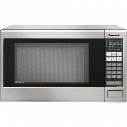 Panasonic NN-SN661S Stainless 1200W 1.2 Cu. Ft. Countertop Microwave Oven with Inverter Technology