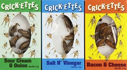 Crick-ettes Sampler Gift Pack- Sour Cream & Onion, Bacon & Cheese, & Salt N' Vinegar