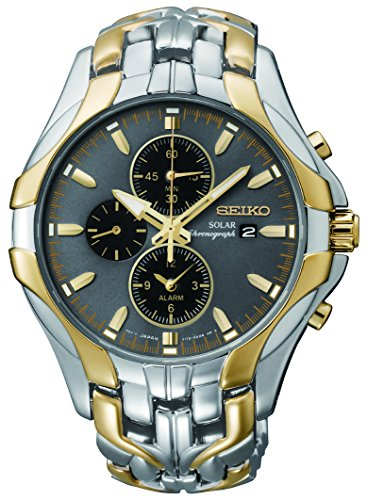"Seiko Men's SSC138 ""Excelsior"" Two-Tone Stainless Steel Solar Watch"