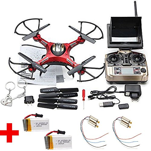 Blueskysea Free Gift Keychain + JJRC H8D 5.8Ghz Real-time FPV Headless Mode RC Quadcopter Drone W/ 0