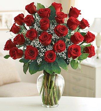1-800-Flowers – Ultimate Elegance Premium Long Stem Red Roses – 24 Stem Red…