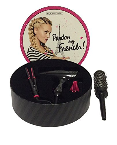 Travel Set Bundle: Paul Mitchell Pardon My French Express Ion Tool Gift Set Hair Dryer, Flat Iron Pl
