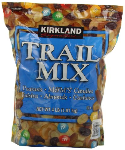 Signature Trail Mix, Peanuts, M and M Candies, Raisins, Almonds and Cashews, 4 Pound