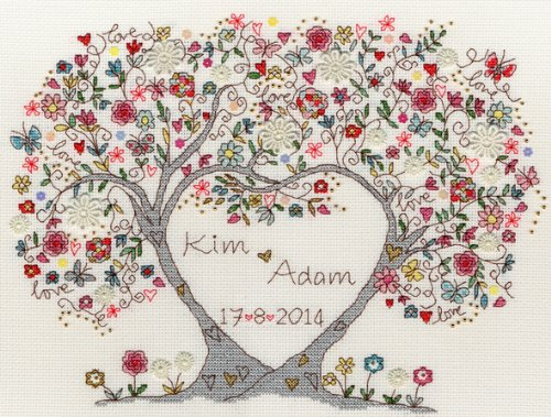 Bothy Threads Love Blossoms Cross Stitch Kit