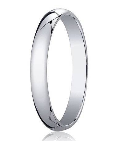 Men's Designer 4mm Traditional 14K White Gold Wedding Ring