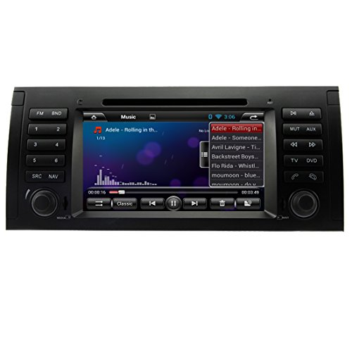 YINUO 7″ 800*480 Android 4.4 Car DVD Player GPS Stereo for BMW 5 E39/BMW X5 E53/Range Rover In Dash