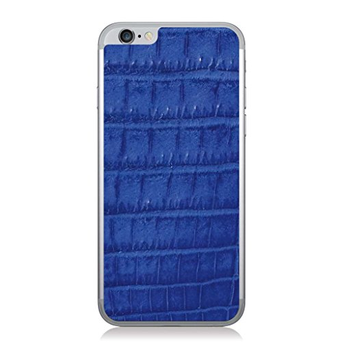 Cobalt Crocodile iPhone 6 Plus Leather Back