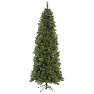 Vickerman B106060 6 ft. x 29 in. Mix Pine Berry-Cone 600Tips