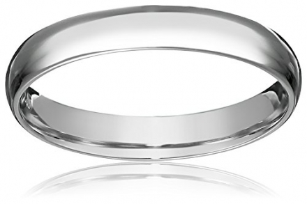 Platinum 3mm Light Comfort Fit Wedding Band