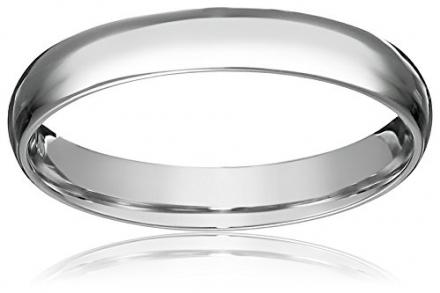 Platinum 3mm Light Comfort Fit Wedding Band