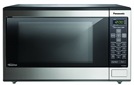 Panasonic NN-SN643S Stainless 1200W 1.2 Cu. Ft. Countertop Microwave Oven with Inverter Technology