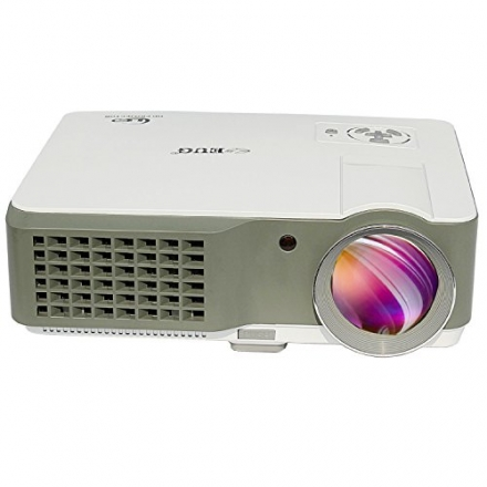 EUG LCD Full Hd 1080p Theater Projector LED 2500 Lumens for Home Cinema Office School Classrooms Con