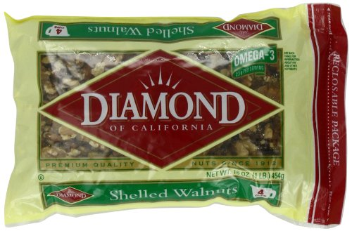 Diamond Shelled Walnuts, 16-Ounce Bags (Pack of 6)