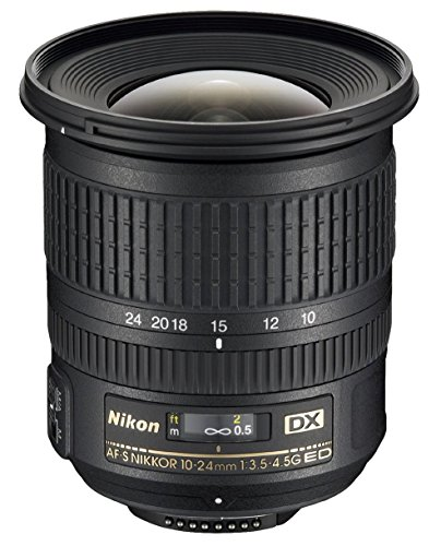Nikon 10-24mm f/3.5-4.5G ED Auto Focus-S DX Nikkor Wide-Angle Zoom Lens for Nikon Digital SLR Camera