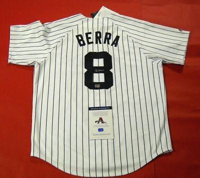 Yogi Berra Autographed Jersey – Aaa – Autographed MLB Jerseys