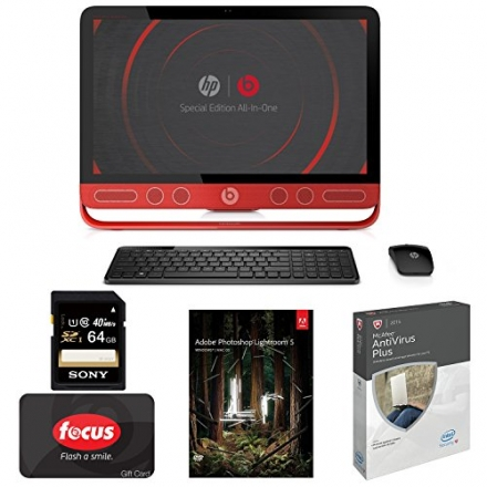 HP ENVY Beats 23-n012 All-in-One 23″ Touchscreen with Adobe & Anti Virus + Focus $20 Gift Card Bundl