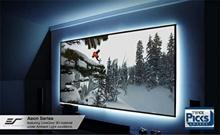 Elite Screens Aeon Series, 120-inch 16:9, Sleek EDGE FREE Tensioned Fixed Frame Projection/Projector