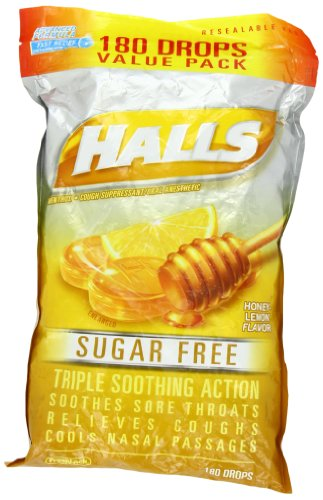 Halls Mentho-Lyptus – Suger Free Honey Lemon 180 drops
