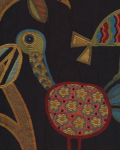 Swavelle CRAMID10 Crazy Ol Bird Midnight 61% Rayon 39% Polyester Fabric, 54 in. Width, 10 yds long