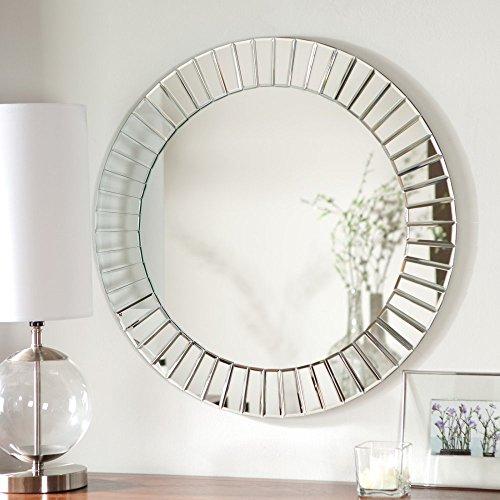 Fortune Modern Frameless Beveled Wall Mirror