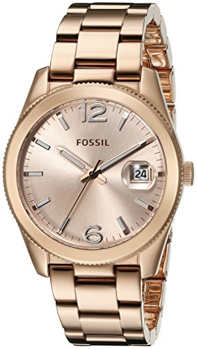 Fossil Women's ES3587 Perfect Boyfriend Rose Gold-Tone Stainless Steel Watch