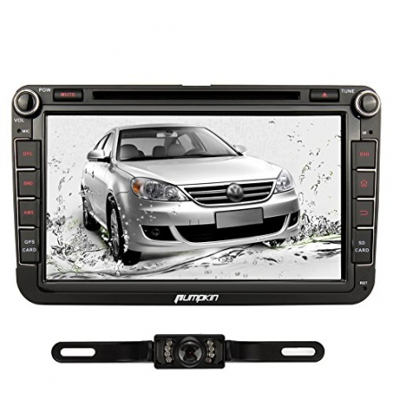 Pumpkin 8 inch Quad Core Android 4.4 Double Din In Dash Car Radio DVD Player HD Capacitive Touch Scr