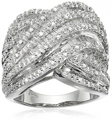 Sterling Silver Diamond Ring (1 cttw, I-J Color, I3 Clarity)
