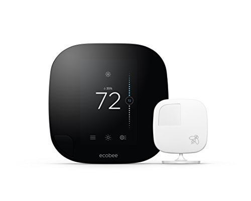 ecobee3 Smarter Wi-Fi Thermostat with Remote Sensor, Black Apple HomeKit Enabled