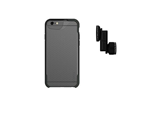 olloclip Telephoto and CPL + olloCase for iPhone 6/6s (Matte Clear/Gray Bumper) OC-0000148-EU